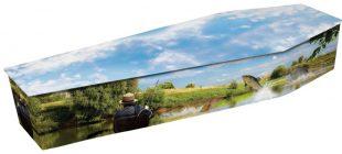Gone Fishing Coffin