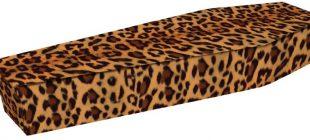 Leopard Print Coffin