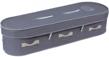 Grey Wool Coffin